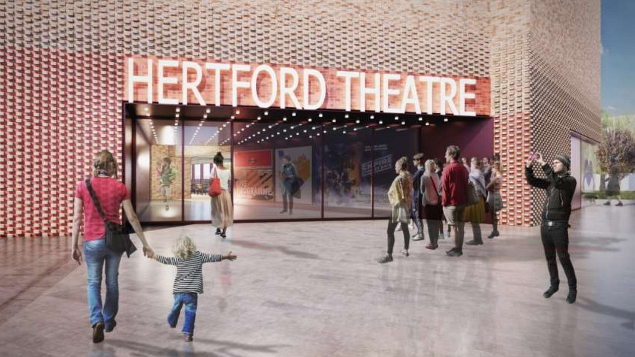 Artists impression of redeveloped Hertford Theatre