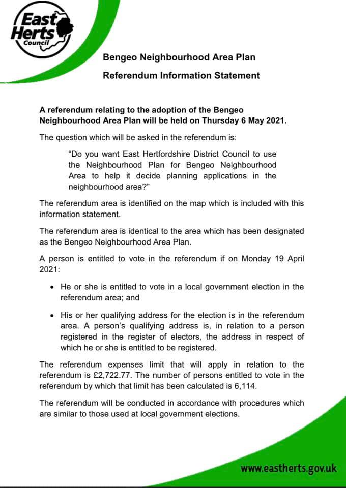 Image of referendum statement